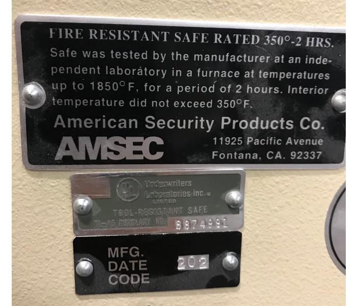 AmSec TL-15 Jewelry Safe